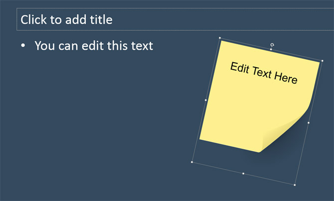 Priceless image with editable post it note template
