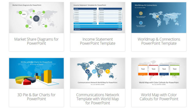 Editable World Map Templates for PowerPoint