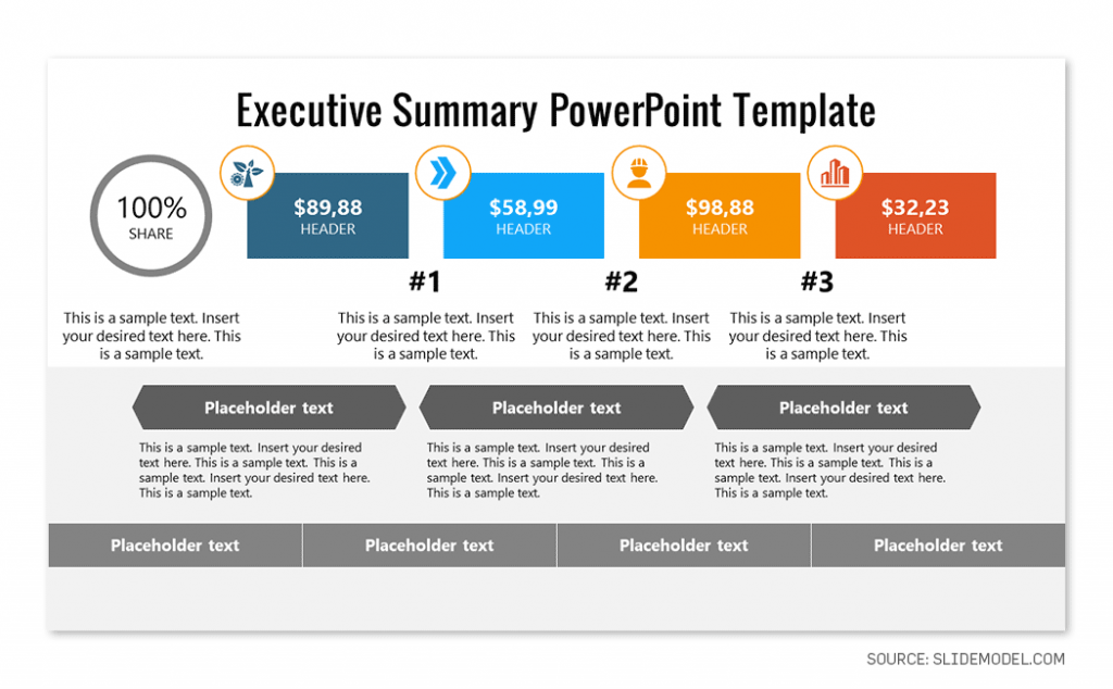 Executive Summary Slide Template for PowerPoint