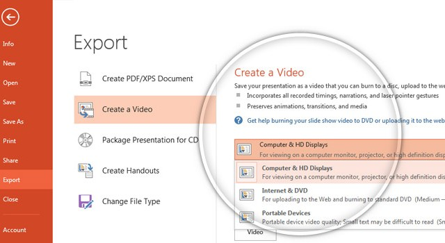 How To Convert a PowerPoint 2013 Presentation to a HD Video
