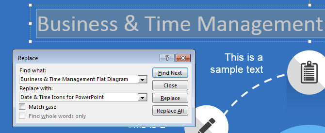 Find & Replace in PowerPoint 2013