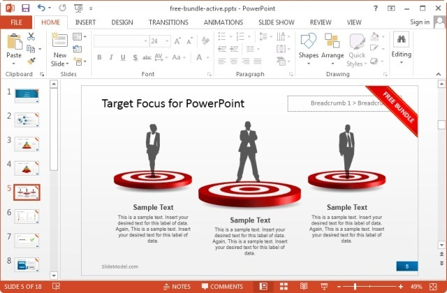 free powerpoint business slide