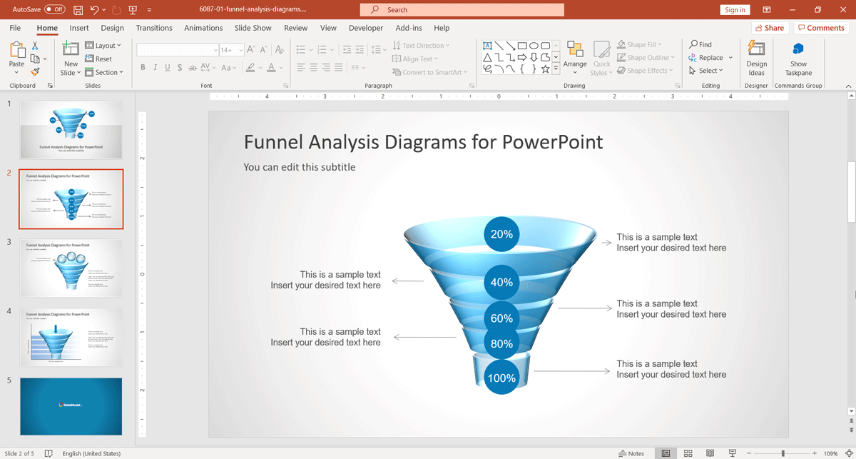 funnel-analysis-diagrams-for PowerPoint-Presentations