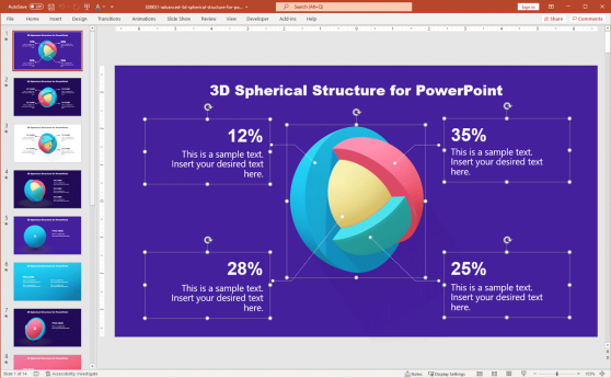 3D Sphere PowerPoint Giveaway