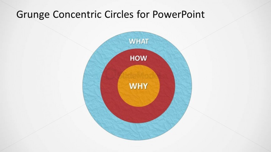 Simple Grunge Venn Diagram Design for PowerPoint