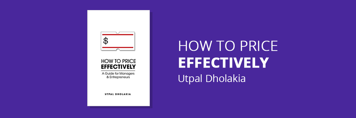 Book cover: How to Price Effectively by Utpal Dholakia