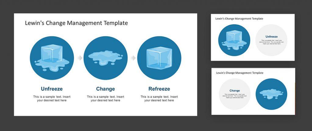 Lewins Change Management Model PPT Template