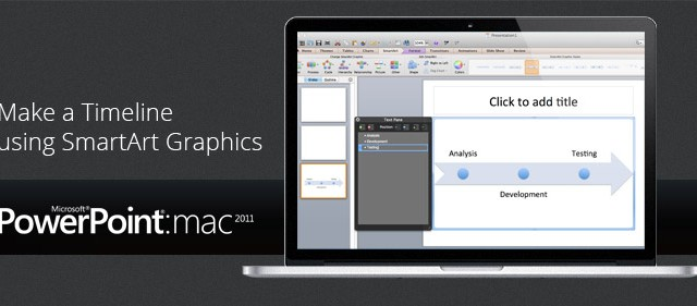 Using SmartArt Graphics to Make a Timeline in PowerPoint 2011 for Mac