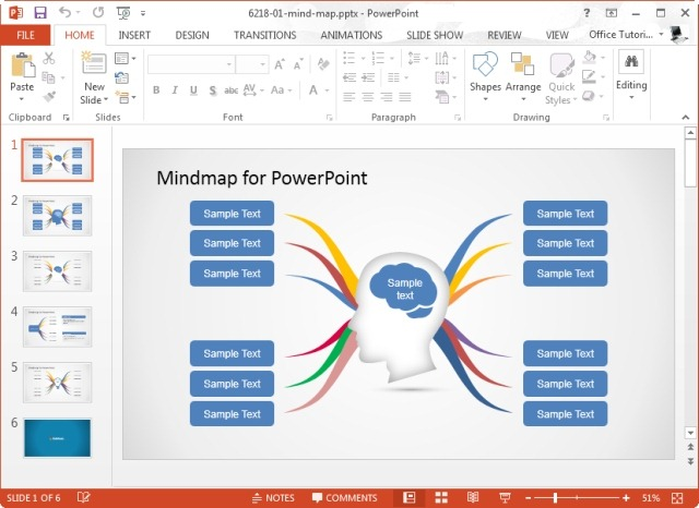 mind map diagram template for powerpoint