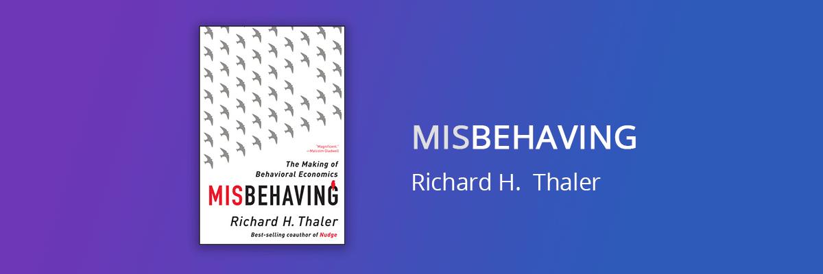 Misbehaving Book Cover Richard Thaler
