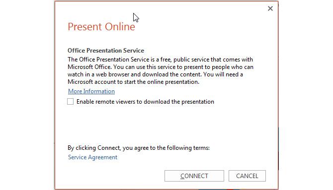 Present Online Popup