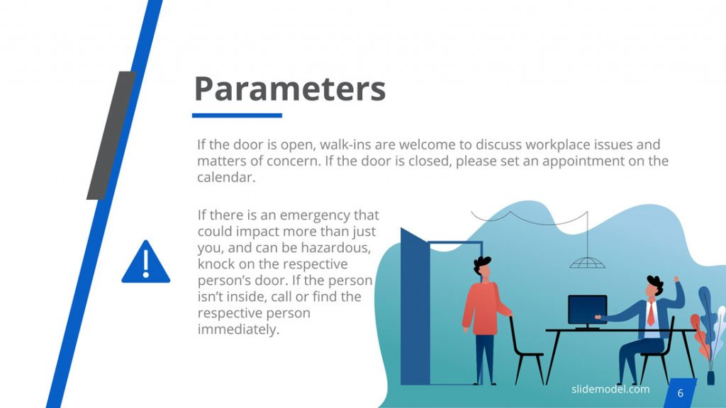Parameter of a Good Open Door Policy PowerPoint Template