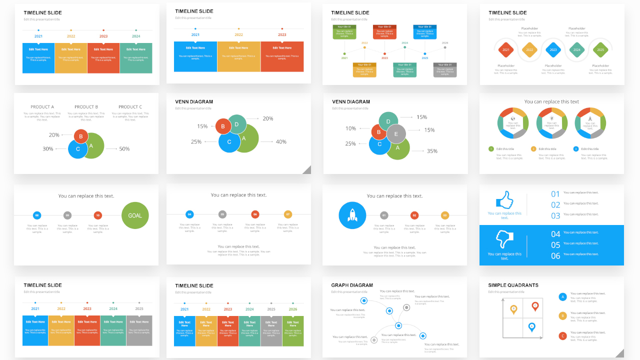 Infographic PPT Designs for Data Presentations