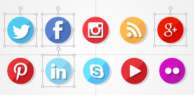 Social Networks PowerPoint Icons Tutorial