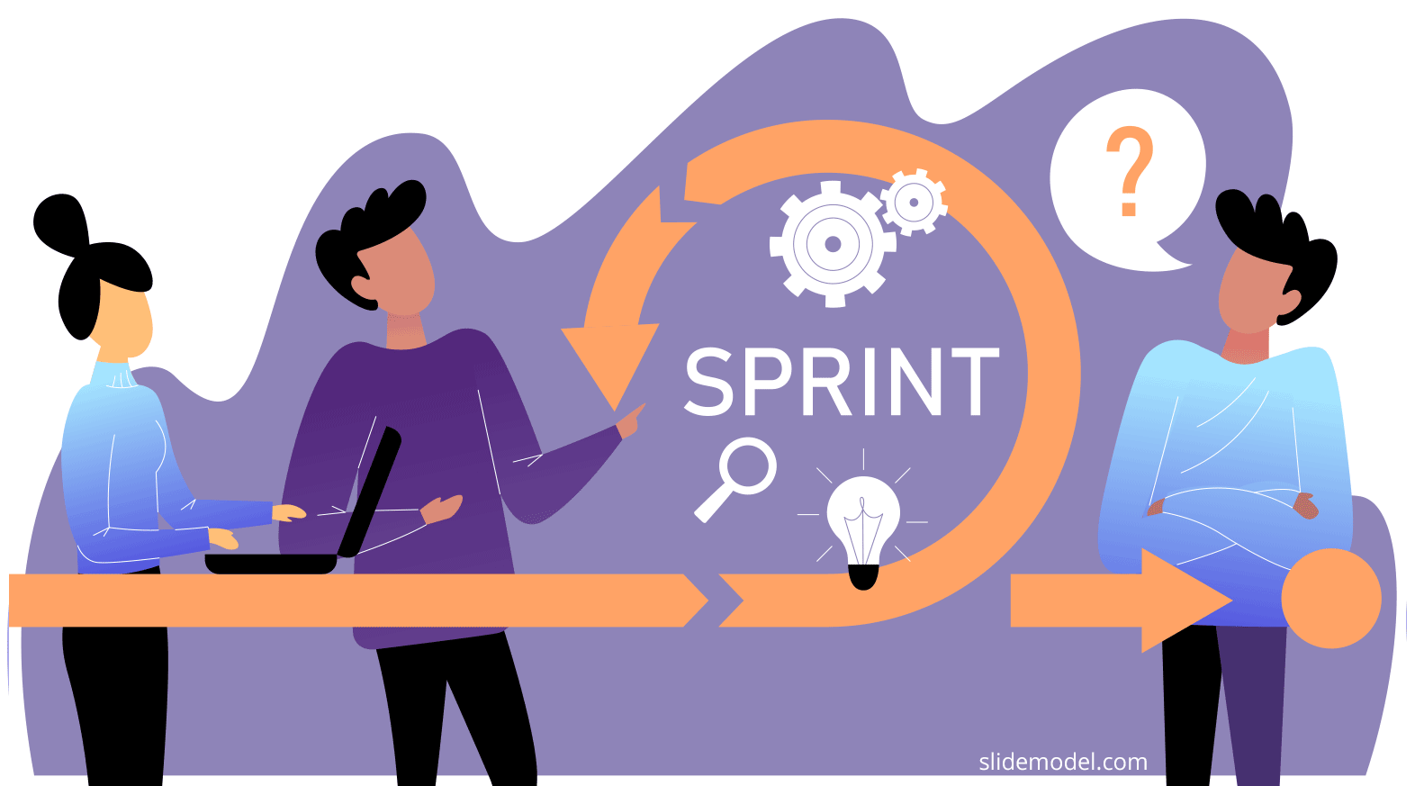 Sprint Retrospective Illustration