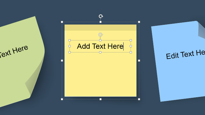 Adding Text to Sticky Notes