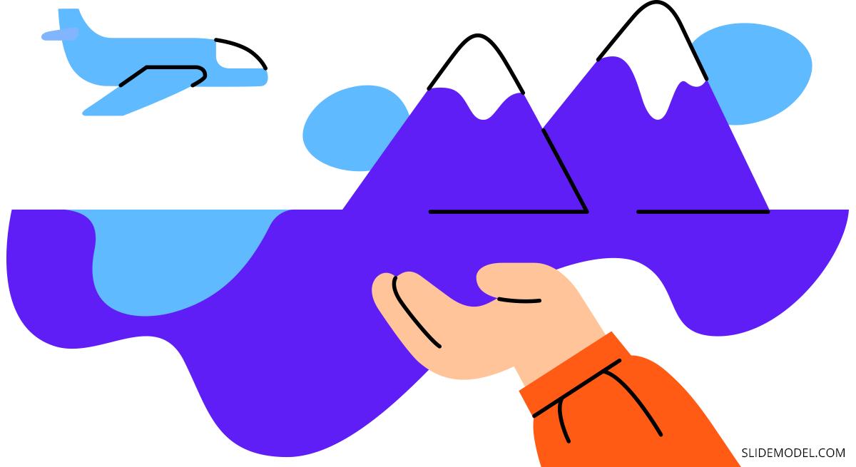 Storytelling Persuasive Speech Illustration by SlideModel