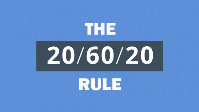 How to Effectively use the 20/60/20 Rule for Your Audience
