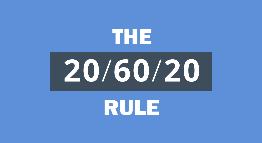 The 20-60-20 Rule applied for Presentation Audience