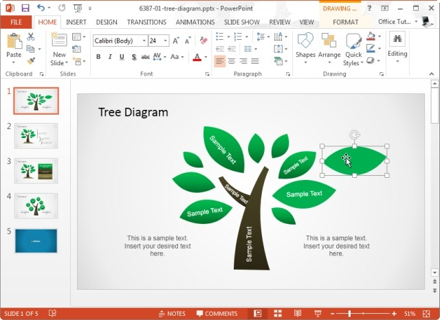 Tree Diagram Template For Microsoft Powerpoint Jpg Slidemodel