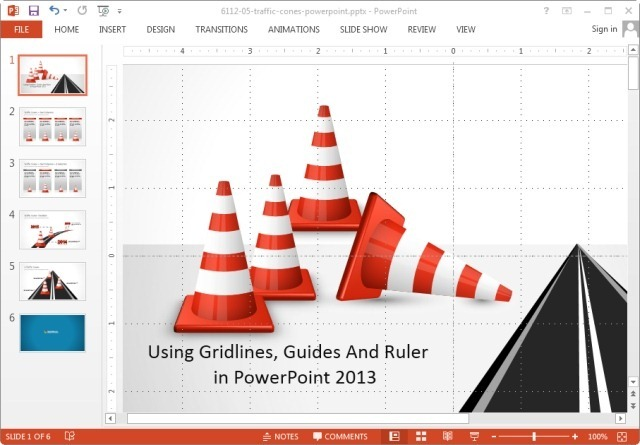 using gridlines, guides and ruler in powerpoint 2013