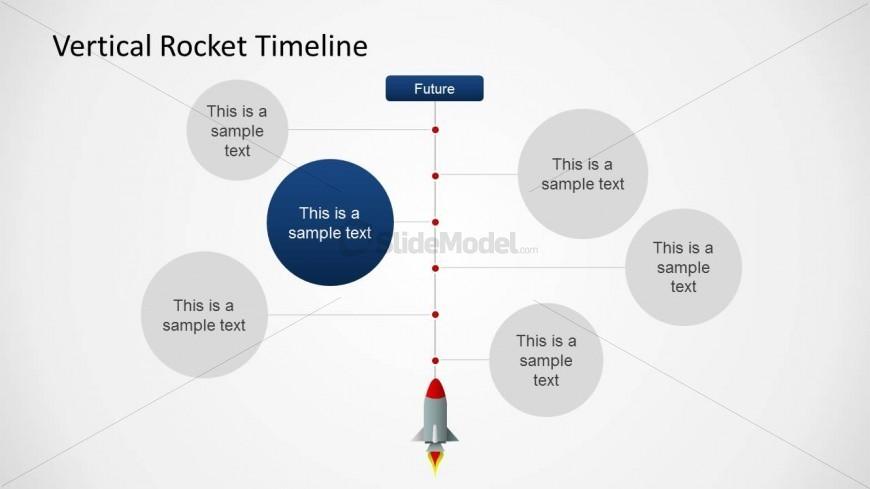 vertical rocket timeline 3 slidemodel