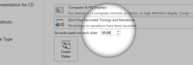 Default Timing Seconds per Slide