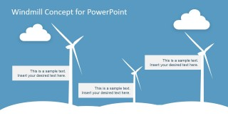 PowerPoint Clipart featuring Eolic Electricity Windmill