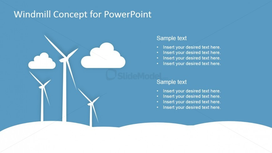 PowerPoint Graphics Featuring Eolic Energy